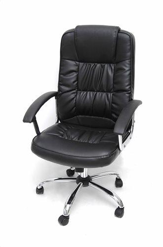 Velco Καρέκλα Γραφείου Διευθυντική με Ανάκλιση Δερματίνη