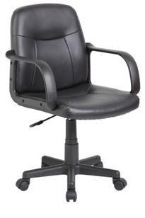 Velco Καρέκλα Γραφείου Δερματίνη 66-20040 Μαύρη