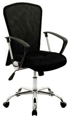 Velco Καρέκλα Γραφείου Υφασμάτινη Μαύρη 66-22181-1
