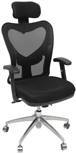 Velco Καρέκλα Γραφείου Διευθυντική Mesh με Ανάκλιση και Ρυθμιζόμενα Μπράτσα 66-22419 Μαύρη