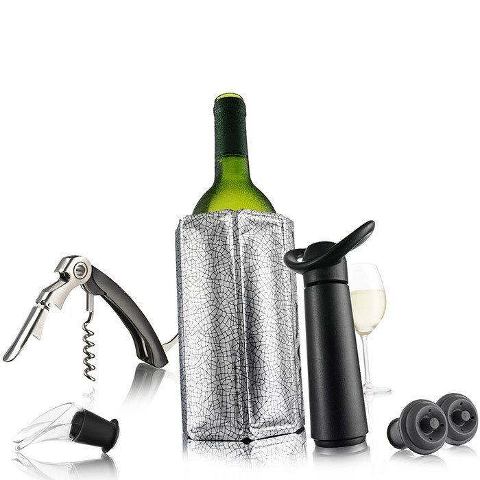 Vacu Vin Εργαλεία Κρασιού Σετ 6τεμ. Μαύρο Essentials