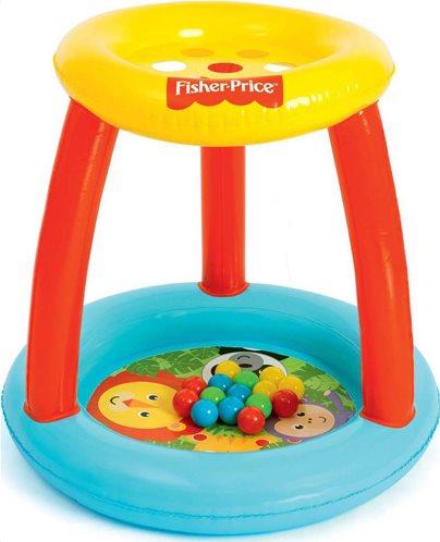 Fisher-Price Bestway Φουσκωτός Παιδότοπος με Ζωάκια 89x89x84cm PVC