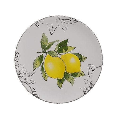 Inart Πιάτο Φρούτου Σετ Των 6 3-70-714-0019