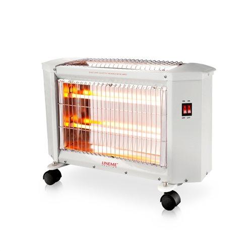 Lineme Σόμπα Χαλαζία 1500W 70-00606 με Θερμοστάτη και 3 Βαθμίδες Θέρμανσης