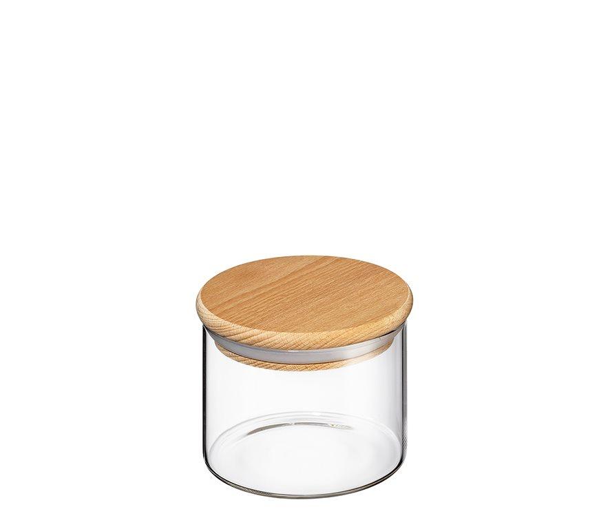 Zassenhaus Δοχείο Γυάλινο με Ξύλινο Καπάκι 350ml