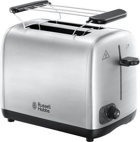 Russell Hobbs Φρυγανιέρα από ανοξείδωτο ατσάλι 1200W Adventure 2 Slice Brushed Toaster 24080-56
