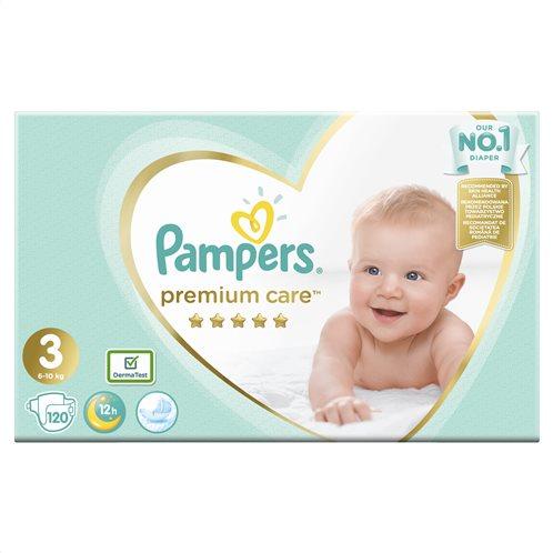 Pampers Premium Care Πάνες Με Αυτοκόλλητο No 3 Mega Box 5-9Kg 120 τμχ