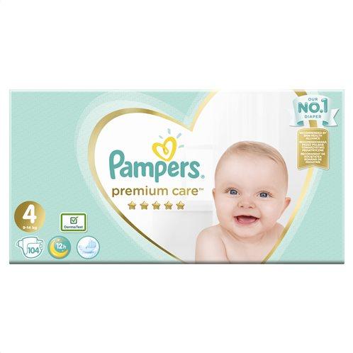 Pampers Premium Care Πάνες Με Αυτοκόλλητο Νο 4 Mega Box 8-14kg 104τμχ