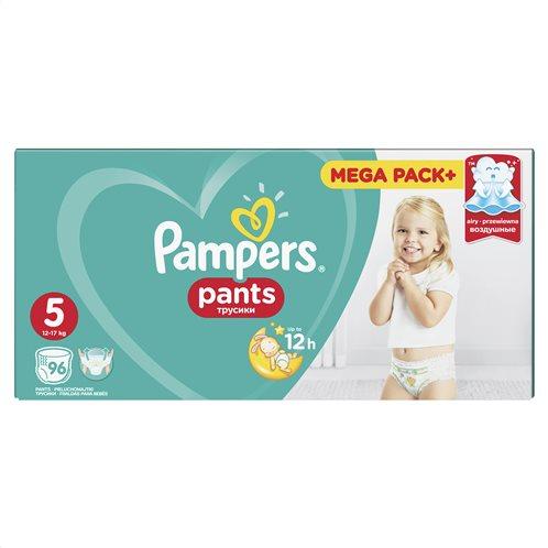 Pampers Pants Πάνες Βρακάκι No 5 12-17kg Mega Box 96τμχ