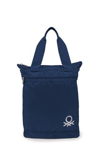 Benetton Τσάντα αγορών 44x39x2cm σειρά FOLDABLE Royal Blue