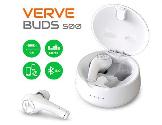 Motorola Ακουστικά Ασύρματα In-Ear Vervebuds Earbuds White