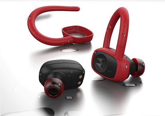 Motorola Ακουστικά Ασύρματα In-Ear Moto Stream Sport Earbuds Μαύρα