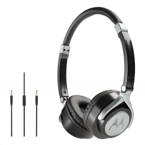 Motorola Ακουστικά Κεφαλής  Ενσύρματα  Οn-Ear Pulse 2 Μαύρα