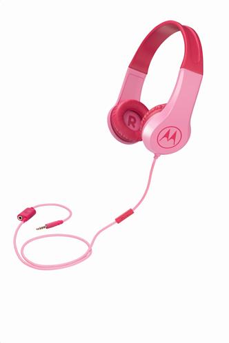 Μotorola Παιδικά Ακουστικά Κεφαλής Ενσύρματα On-Ear Squads 200 Ροζ