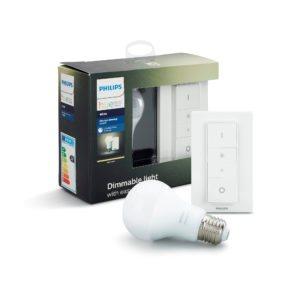 Philips Hue Dim Kit Ασύρματος Ροοστάτης & Λάμπα LED 9.5W A60 E27