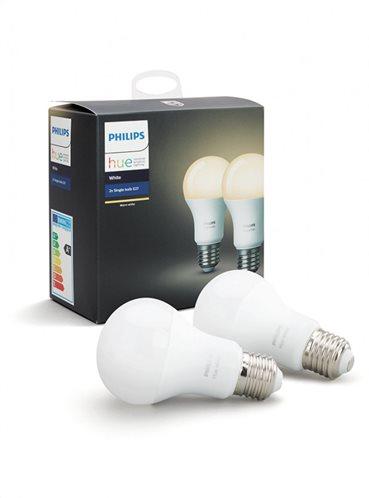 Philips Hue White 9W A60 E27 x2 Pack