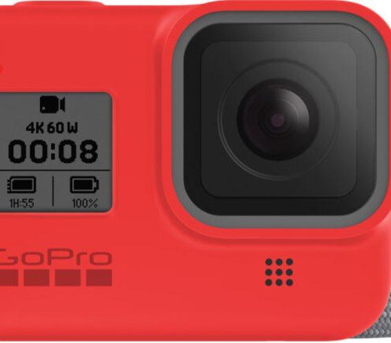 GoPro Sleeve + Lanyard for Hero8 Black Firecracker Red