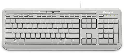 Micosoft Ενσύρματο Πληκτρολόγιο Keyboard 600 Λευκό