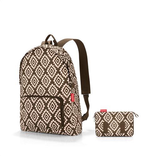 Reisenthel τσάντα πλάτης mini maxi rucksack σειρά Diamonds Mocha