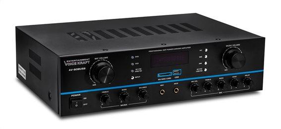 VOICE KRAFT ενισχυτής ηχείου AV-808USB 200W RMS bluetooth/USB/SD/FM
