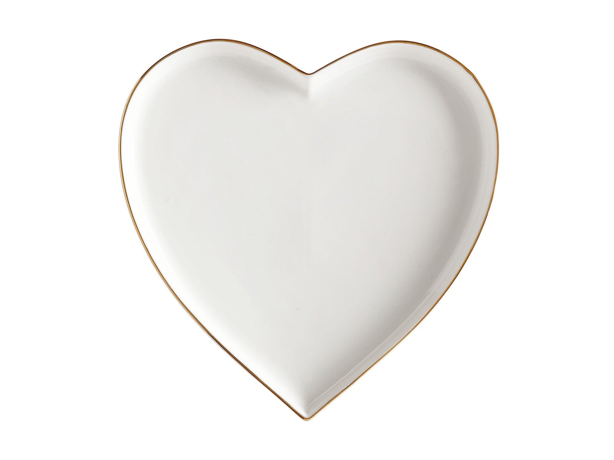Maxwell & Williams Πιατέλα Καρδιά Λευκή Oro 22cm