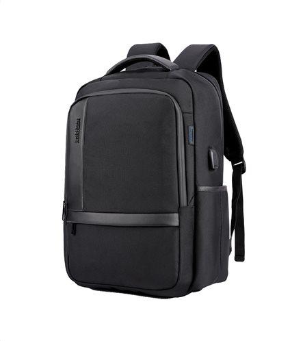 ARCTIC HUNTER τσάντα πλάτης B00120C-BK με θήκη laptop αδιάβροχη μαύρη