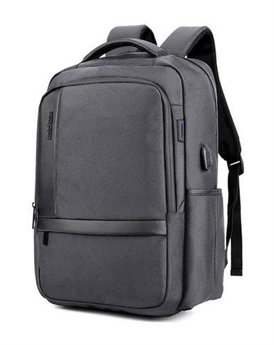 ARCTIC HUNTER τσάντα πλάτης B00120C-GY με θήκη laptop αδιάβροχη γκρι