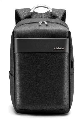 ARCTIC HUNTER τσάντα πλάτης B00218-BK με θήκη laptop αδιάβροχη μαύρη
