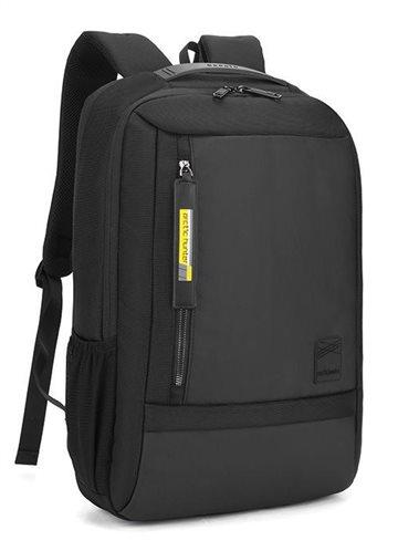 ARCTIC HUNTER τσάντα πλάτης B00357-BK με θήκη laptop αδιάβροχη μαύρη