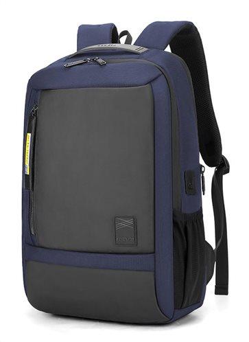 ARCTIC HUNTER τσάντα πλάτης B00357-BL με θήκη laptop αδιάβροχη μπλε