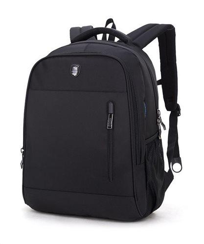 ARCTIC HUNTER τσάντα πλάτης B180018-BK με θήκη laptop αδιάβροχη μαύρη