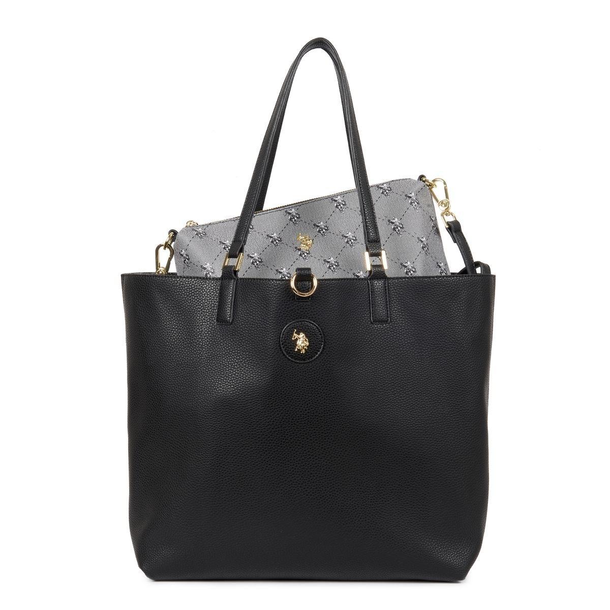 US Polo Assn. Τσάντα χειρός 3in1 34x14x32cm Malibu Black