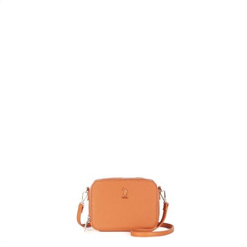 US Polo Assn. Τσάντα Crossbody με καπάκι 19x7x14cm Portsmouth Orange