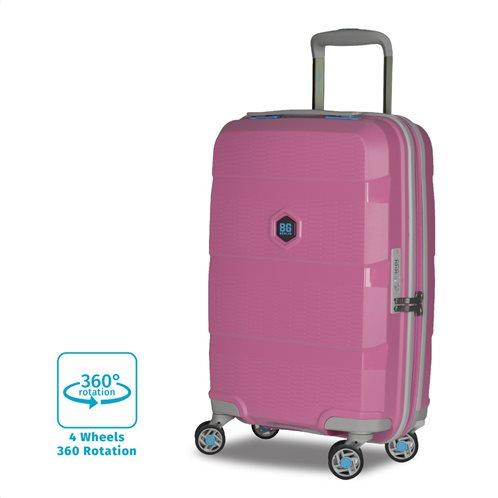 BG Berlin Βαλίτσα trolley μεγάλη 81x50x30cm σειρά Zip2 χρώμα Pop Pink