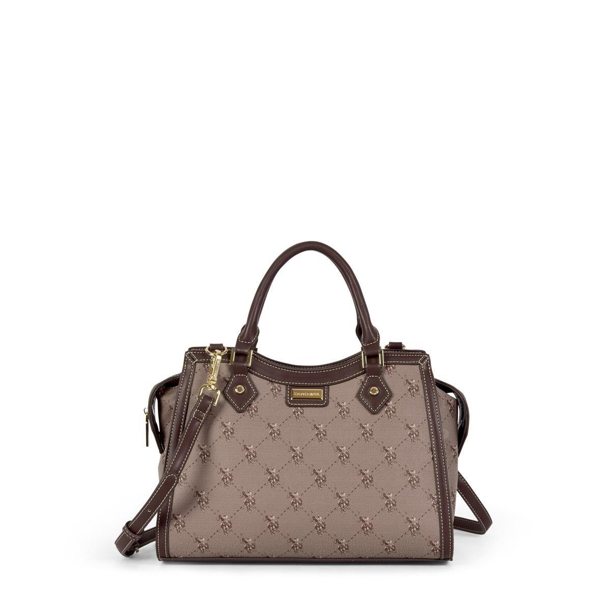 US Polo Assn. Τσάντα χειρός γυναικεία 33x15x23cm Hampton Brown