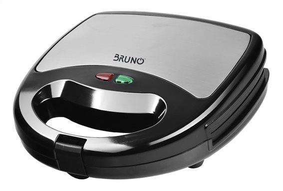 Bruno Τοστιέρα για 2 Τοστ 750W Πλάκες Με Ραβδώσεις BRN-0025 Inox