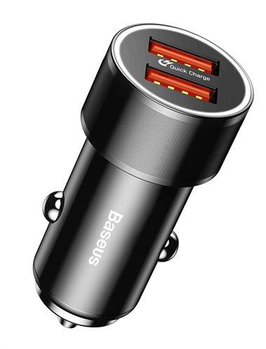 BASEUS φορτιστής αυτοκινήτου CAXLD-B01 2x USB 2.4A 36W μαύρο
