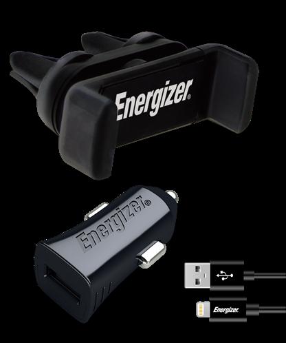 Energizer kit Βάση Στήριξης Αυτοκινήτου & Φορτιστής & Καλώδιο Lightning