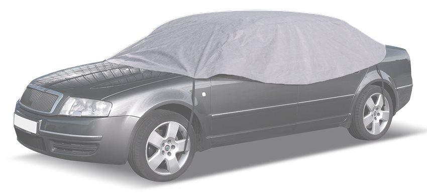 CARPASSION κουκούλα αυτοκινήτου CP58137 265x125x68cm γκρι