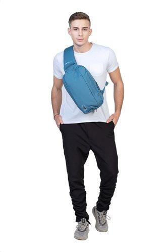 Cabin Zero Τσάντα πλάτης χιαστί 33x19x10cm 11lt σειρά Cross Body Aruba Blue