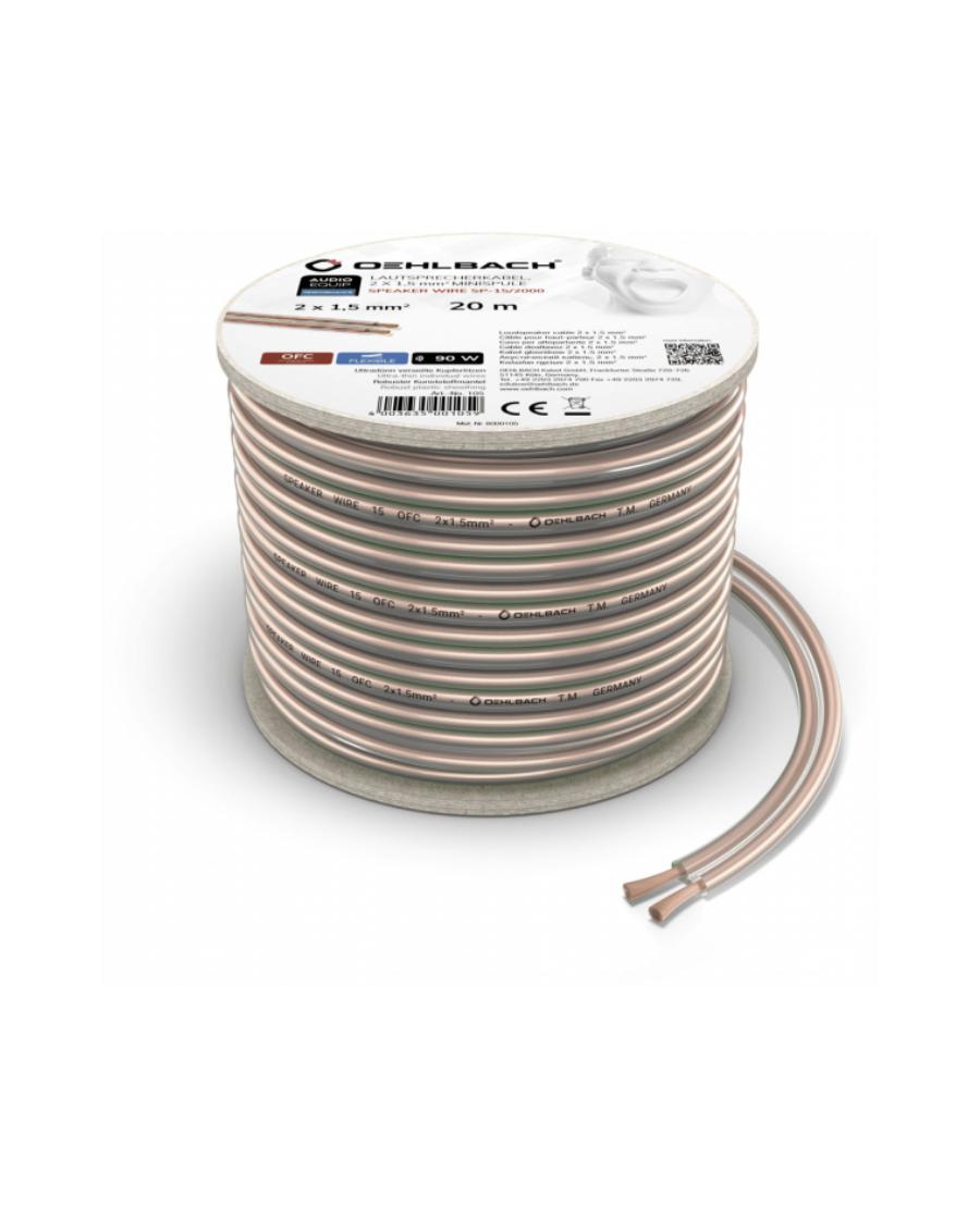 Oehlbach Speaker Wire SP-15 Καλώδιο Ηχείων 2 x 1,5 mm² 20m