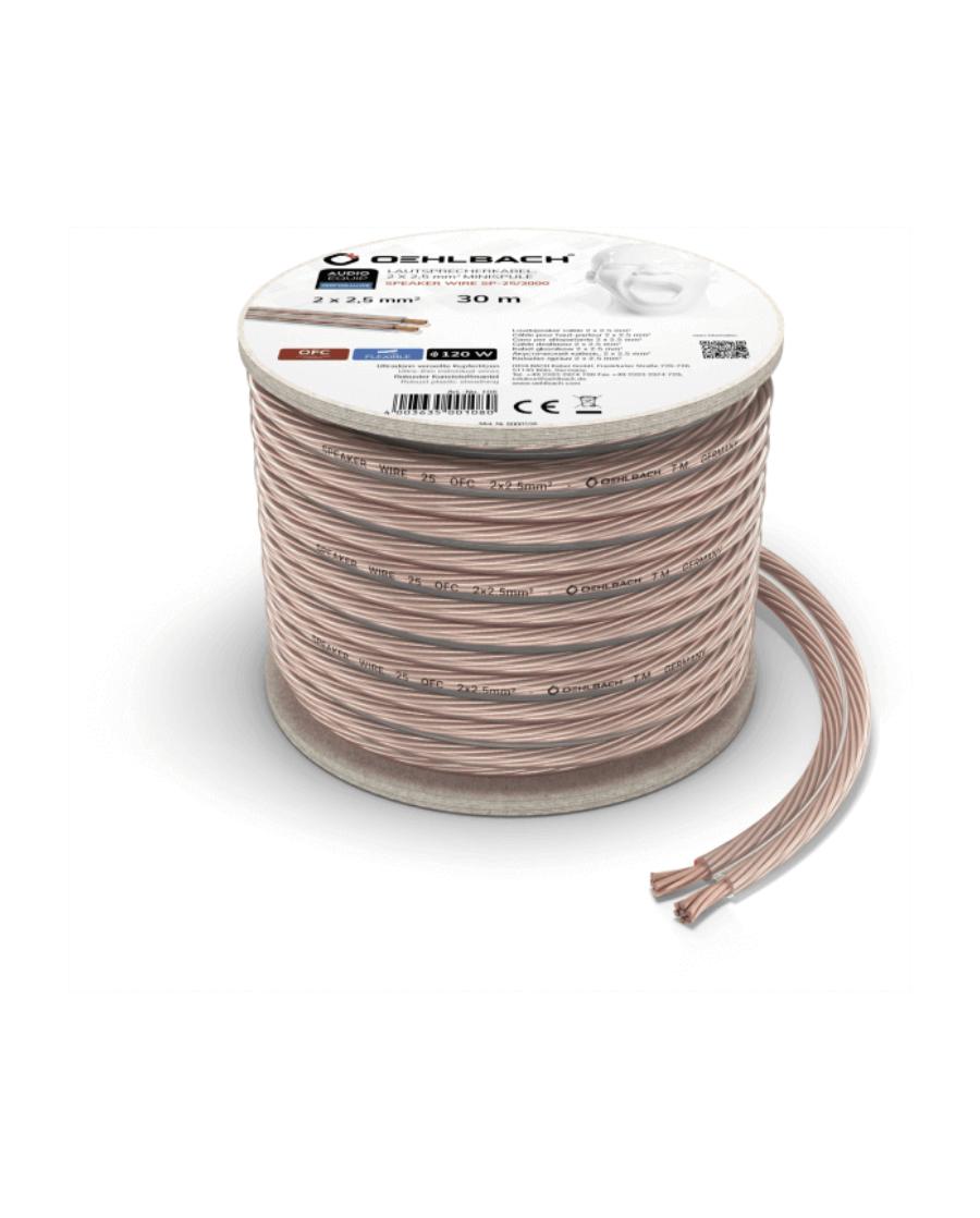 Oehlbach Speaker Wire SP-25 Καλώδιο Ηχείων 2 x 2.5 mm² 30m