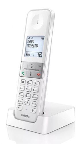 PHILIPS ασύρματο τηλέφωνο D4701W/34 με ελληνικό μενού λευκό