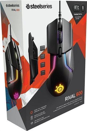 Steelseries Ενσύρματο Ποντίκι Gaming Rival 600 Μαύρο