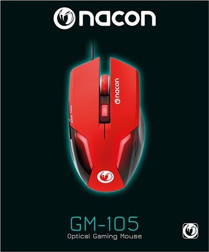 Nacon Οπτικό Gaming Ποντίκι PC PCGM-105RED Red