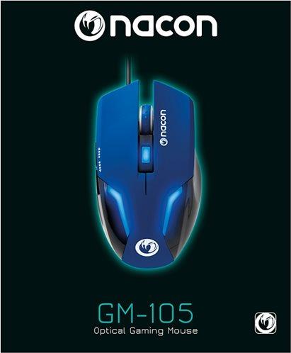 Nacon Οπτικό Gaming Ποντίκι PC PCGM-105BLUE Blue