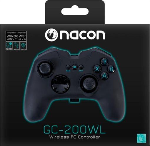 Nacon Ασύρματο Gaming Χειριστήριο PC PCGC-200WL Black