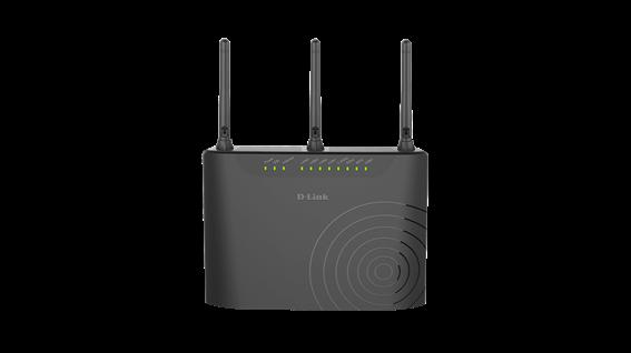 D-Link VDSL/ADSL Modem Router AC 750Mbps Μαύρο
