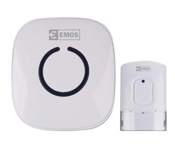 EMOS Ασύρματο κουδούνι εξώπορτας P5718W 52 ήχοι 120μ εμβέλεια 230V