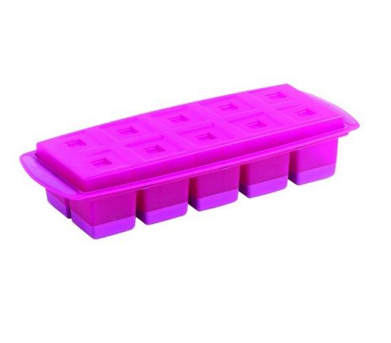 Mastrad Παγοθήκη με Καπάκι-Δίσκο Μοβ - για 10 Παγάκια